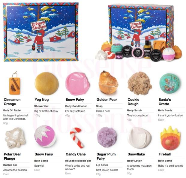 Lush Canada 12 Days of Christmas 2019 Canadian Christmas Holiday Advent Calendar Beauty Fresh Handmade Cosmetics Unboxing - Glossense