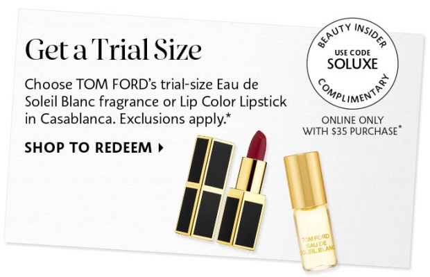 Sephora Canada Canadian Beauty Offers Promo Code Coupon Codes Free Tom Ford Lipstick Perfume Mini Deluxe Samples - Glossense