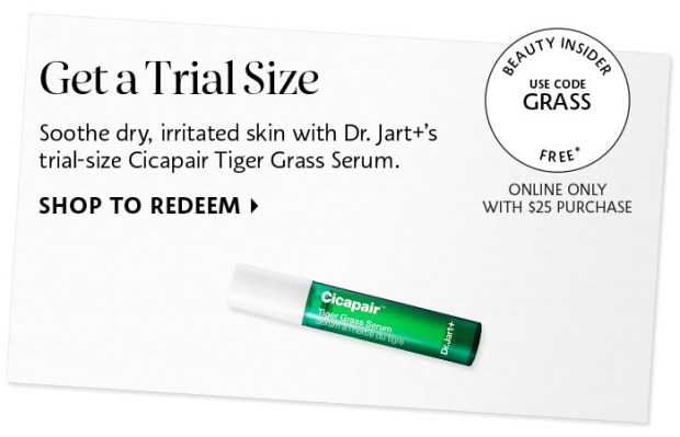 Sephora Canada Canadian Coupon Code Promo Codes Beauty Offer Free Dr Jart Cicapair Tiger Grass Serum Sample GWP Gift with Purchase - Glossense