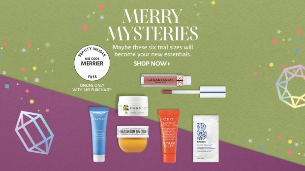 Sephora Canada Choose Your 2019 Free Holiday Sample Goody Bag w Purchase Canadian GWP Offer In-store Online 3 - Glossense