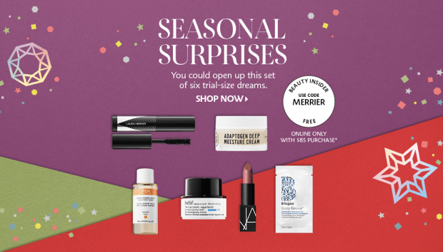 Sephora Canada Choose Your 2019 Free Holiday Sample Goody Bag w Purchase Canadian GWP Offer In-store Online 4 - Glossense