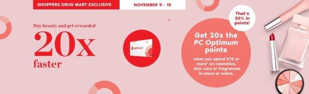 Shoppers Drug Mart Canada SDM Canadian Beauty Boutique PC Optimum Offer Bonus Beauty Get Rewarded Free PC Points November 9 15 2019 - Glossense
