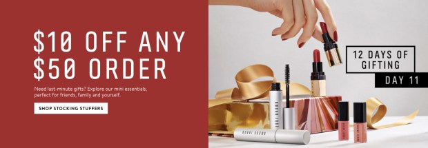 Bobbi Brown Cosmetics Canada Save 10 Off Any 50 Order 12 Days of Gifting 2019 Canadian Deals - Glossense