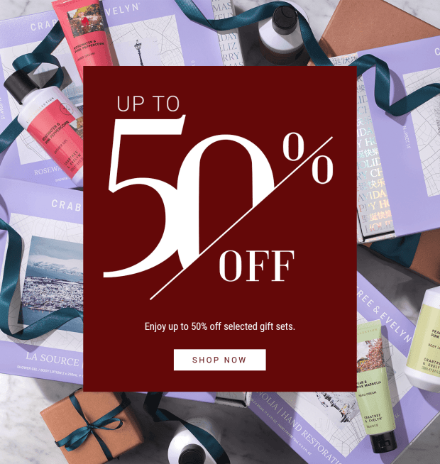 Crabtree and Evelyn Canada Up to 50 Off Gift Sets 2019 Boxing Week 2020 New Year Canadian Beauty Deals Sale Clearance - Glossense