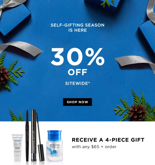 Marcelle Canada 2019 Boxing Day Sale 30 Off Sitewide Free 4-pc Gift Set Canadian Deals GWP Offer - Glossense