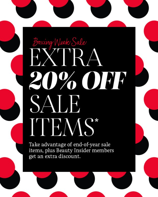 Sephora Canada 2019 Boxing Day Sale on Sale Event Save Big on Boxing Week Canadian Deals Extra 20 Off with Promo Code - Glossense