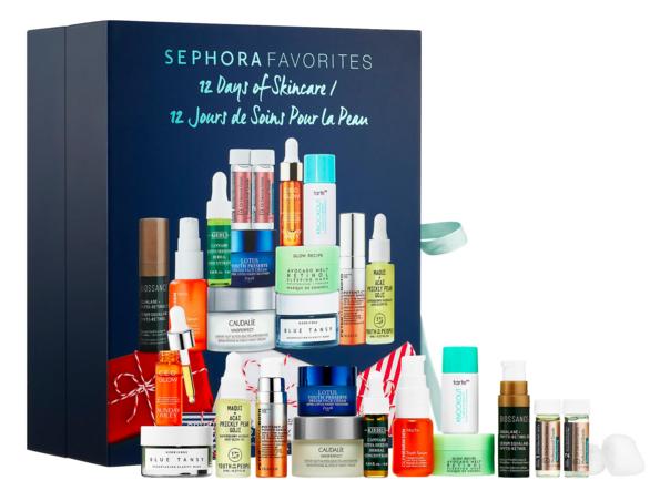 Sephora Canada Favorites Set 12 Days of Skincare 2019 Canadian Christmas Holiday Beauty Advent Calendar Unboxing - Glossense