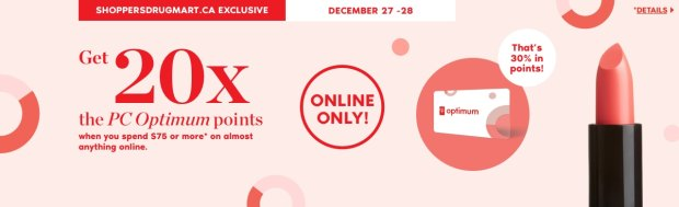 Shoppers Drug Mart Canada SDM Canadian Beauty Boutique PC Optimum Offer Bonus Beauty Get Rewarded Free PC Points December 27 28 2019 - Glossense