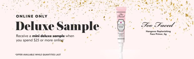 Shoppers Drug Mart SDM Beauty Boutique Canada 2019 Canadian Freebies Deals GWP Free Too Faced Hangover Face Primer Mini Deluxe Sample - Glossense