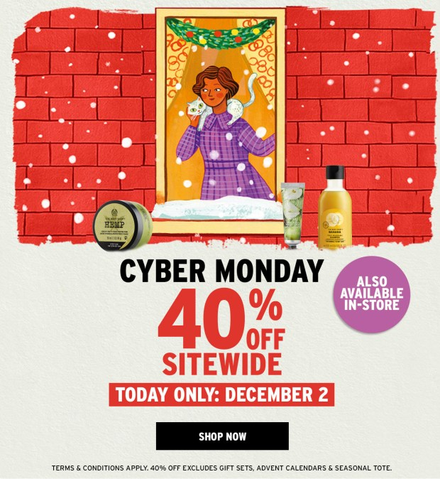 The Body Shop Canada 2019 Cyber Monday Canadian Deals Sale Discount 2019 2020 - Glossense
