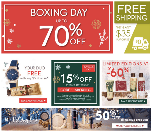 Yves Rocher Canada 2019 Boxing Day Event Sales Up to 70 Off Exclusive Coupons Free Gifts Canadian Beauty Deals - Glossense