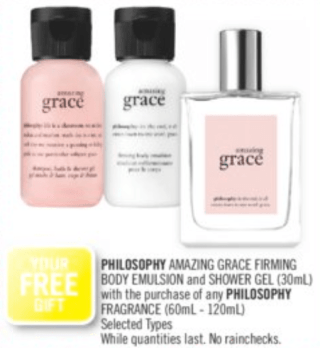 Beauty by Shoppers Drug Mart Canada GWP Free Amazing Grace Mini Duo with Philosophy Fragrance Purchase In-store Canadian Deals Gift with Purchase Offer - Glossense