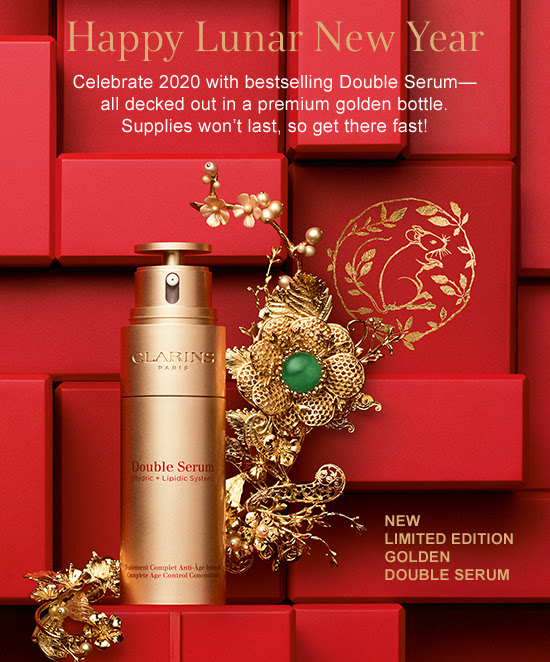 Clarins Canada Free Shipping for 2020 Lunar New Year Shop Limited Edition Golden Double Serum Chinese New Year Canadian Deals New Releases - Glossense