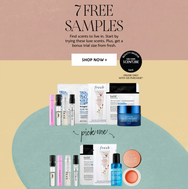 Sephora Canada Promo Code Free February Fragrance Skincare Sample Set 2020 Valentine's Day Canadian GWP - Glossense