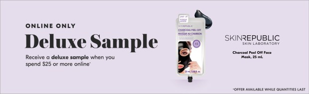 Shoppers Drug Mart SDM Beauty Boutique Canada 2019 Canadian Freebies Deals GWP Free Skin Republic Mask Treatment Mini Deluxe Sample - Glossense