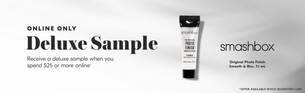 Shoppers Drug Mart SDM Beauty Boutique Canada 2020 Canadian Freebies Deals GWP Free Smashbox Photo Finish Smooth Blur Primer Mini Deluxe Sample - Glossense