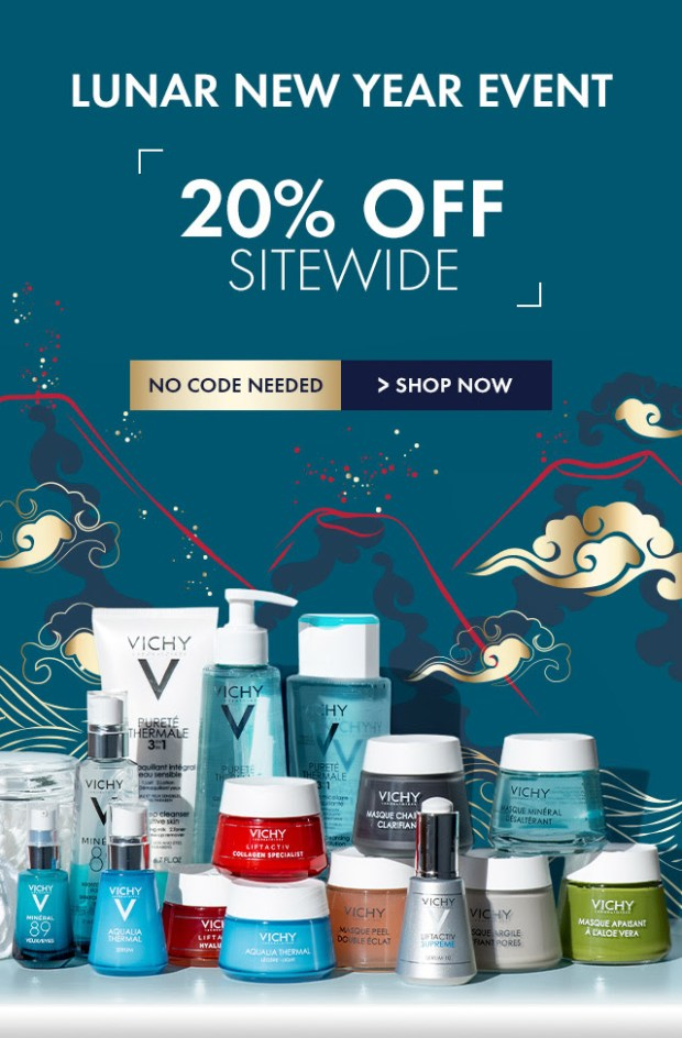 Vichy Canada Lunar New Year Sale 20 Off Sitewide Chinese New Year Canadian Deals - Glossense