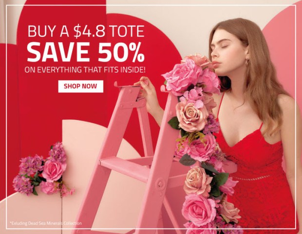 Laline Canada Valentine's Day Sale Buy 4.80 Tote Save 50 Off Sitewide Shop New Rose Collection Canadian Beauty Deals - Glossense