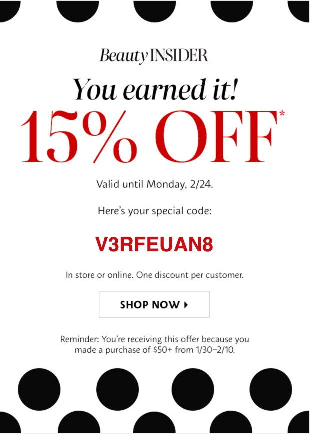 Sephora Canada 15 Off In Store Coupon Online Promo Code Is Now Working Canadian Beauty Deals Discounts February 20 24 2020