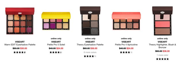 Sephora Canada Hot Sweet Sale 2020 Canadian Sale Save on Viseart Palettes February 2020 Sale Canadian Deals - Glossense