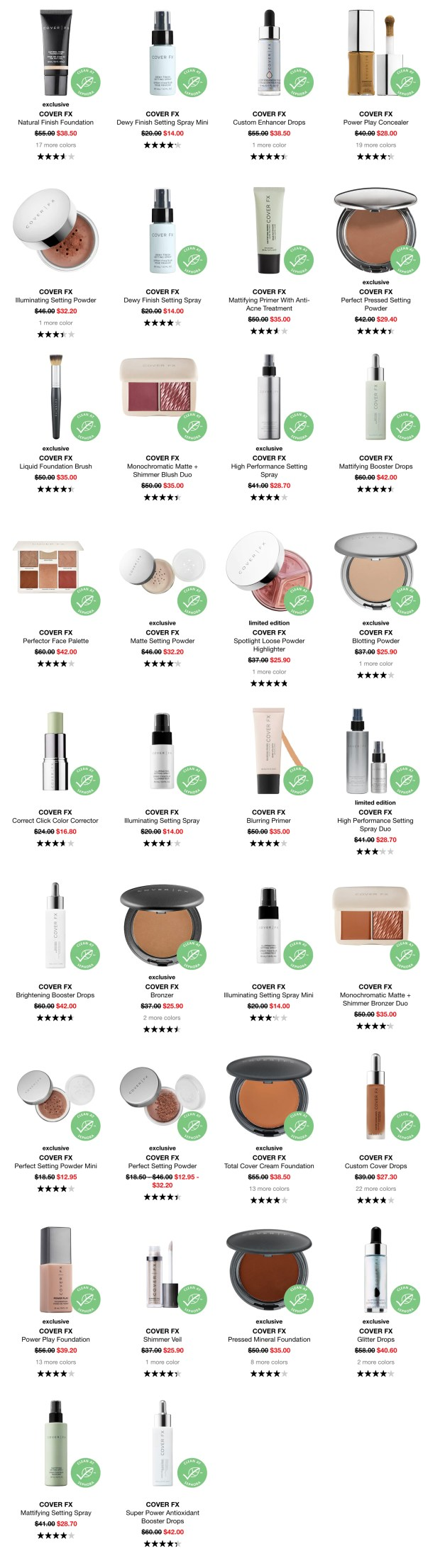 Sephora Canada Sweet Sale 30 Off Many Cover FX Products February 2020 Canadian Deals - Glossense