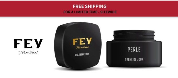 Fey Cosmetics Canada Free Shipping ANY Order Sale on Large Formats Canadian Deals in Response to Coronavirus COVID-19 - Glossense
