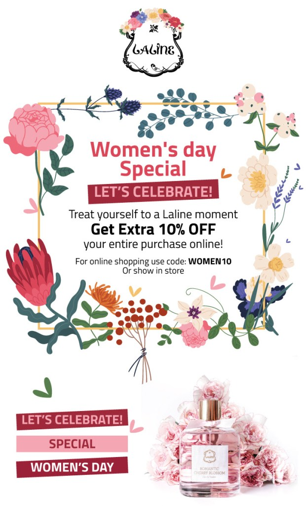 Laline Canada 2020 International Womens Day Sale Save 10 Off Promo Code Canadian Beauty Deals - Glossense