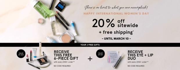 Lise Watier Canada 2020 International Womens Day Sale 20 Off Free Gift Set Purchase Canadian Deals & GWP Offer - Glossense
