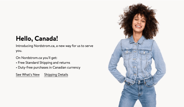 Nordstrom Canada Nordstrom.ca NOW Live Shop Duty Free with Free Canadian Shipping - Glossense