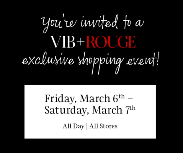 Sephora Canada VIB Rouge Exclusive Spring Shopping Event Free Deluxe Sample Gift Bag Purchase Brand Events Pampering Services March 6 7 2020 Canadian Beauty Insider GWP Deals Events - Glossense