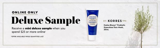 Shoppers Drug Mart SDM Beauty Boutique Canada 2020 Canadian Freebies Deals GWP Free Korres Face Mask Mini Deluxe Sample - Glossense