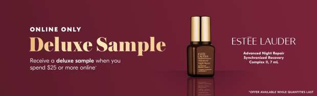 Shoppers Drug Mart SDM Beauty Boutique Canada Canadian Freebies Deals GWP Free Estee Lauder Advanced Night Repair Synchronized Recovery Complex Skincare Mini Deluxe Sample March 2020 - Glossense