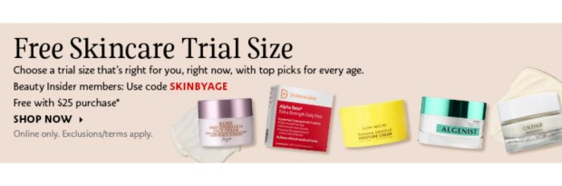 Sephora Canada Promo Code Free Deluxe Mini Skincare for Any Age Sample Fresh Glow Recipe Dr Dennis Gross Algenist Caudalie Canadian GWP Beauty Offer - Glossense