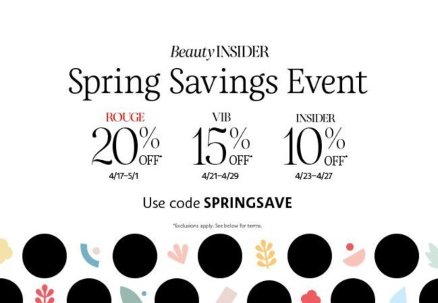Sephora Canada Sephora's Spring Savings 2020 Canadian Bonus Sale Event for ALL Beauty Insider Members Starts Today Free Shipping - Glossense