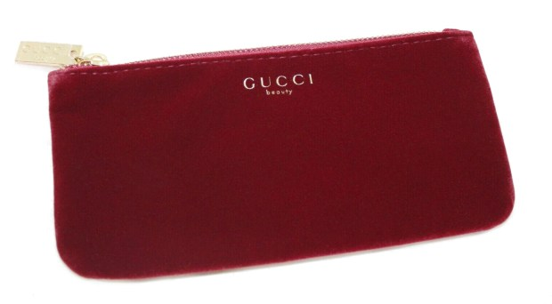 Shoppers Drug Mart Canada GWP Shop Gucci Women's Fragrance Online Receive Free Red Beauty Makeup Pouch Canadian Gift with Purchase Offer - Glossense