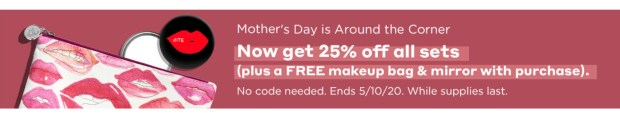 Bite Beauty Canada Mother's Day Sale Save 25 Off All Sets 3 Free Gifts with Purchase Bonus Cash Back HOT Canadian Deals - Glossense