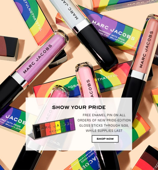 Marc Jacobs Canada New Pride Gloss Sticks Free Pride Pin Gift 2020 - Glossense