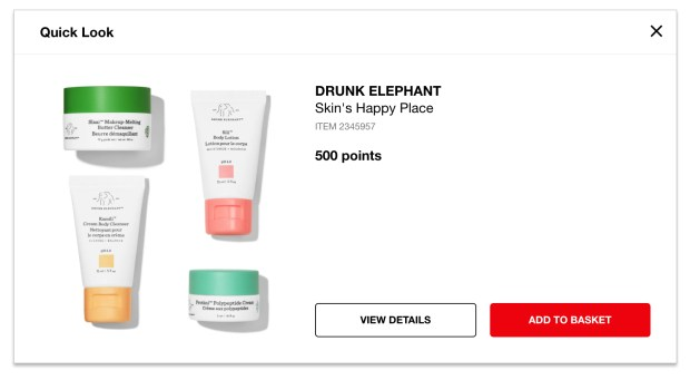 Sephora Canada New Reward Available Drunk Elephant Skin's Happy Place 4-pc Set for 500 Points May 2020 Canadian Beauty Insider Rewards Bazaar - Glossense