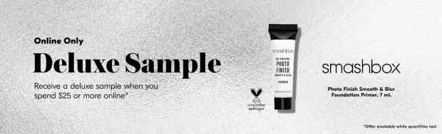Shoppers Drug Mart SDM Beauty Boutique Canada 2020 Canadian Freebies Deals GWP Free Smashbox Photo Finish Smooth Blur Primer Mini Deluxe Sample May - Glossense