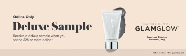 Beauty by Shoppers Drug Mart Canada Free GlamGlow SuperMud Clearing Treatment Deluxe Mini Sample Purchase - Glossense