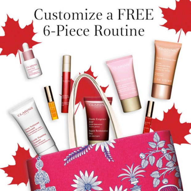 Clarins Canada Free Canada Day Custom Gift Set 2020 Canadian Deals Promo Code GWP Offer 2020 - Glossense