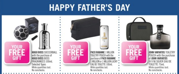 Shoppers Drug Mart Canada Father's Day GWP Offers Free In-Store Men's Fragrance Gifts Canadian Deals - Glossense