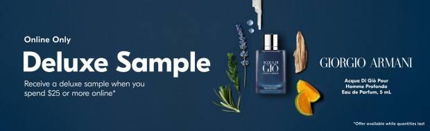 Shoppers Drug Mart Canada Free Giorgio Armani Acqua Di Gio Profondo Deluxe Mini Sample w/ Purchase   Father's Day 2020 Canadian GWP Offer - Glossense