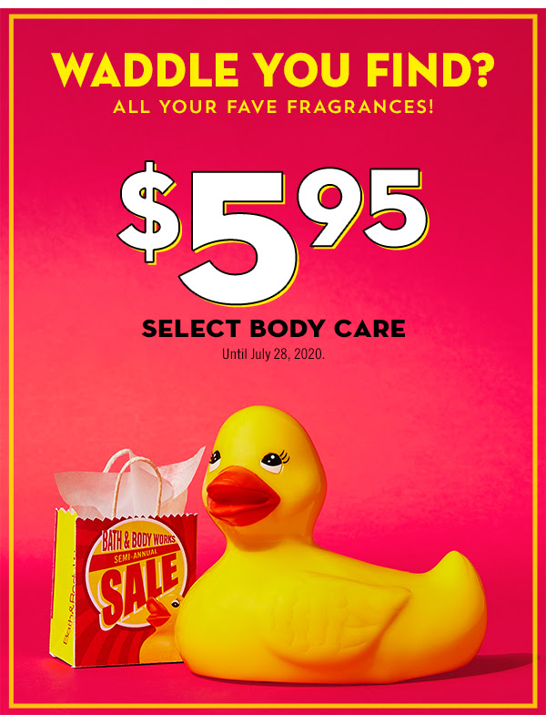 Bath and Body Works Canada Summer Sale 5.95 Select Body Care More 2020 Canadian Deals - Glossense