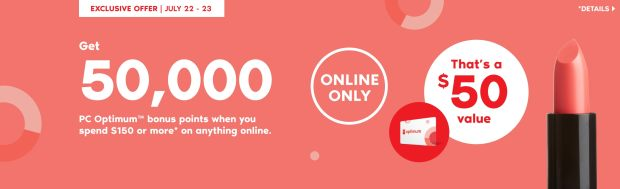 Beauty by Shoppers Drug Mart Canada Get 50000 PC Optimum Points 150 Purchase July 22 - 23 2020 - Glossense
