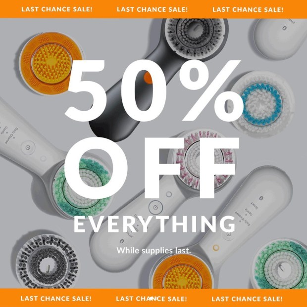 Clarisonic Canada Closing Sale 50 Off Everything 2020 Canadian Deals Last Chance - Glossense