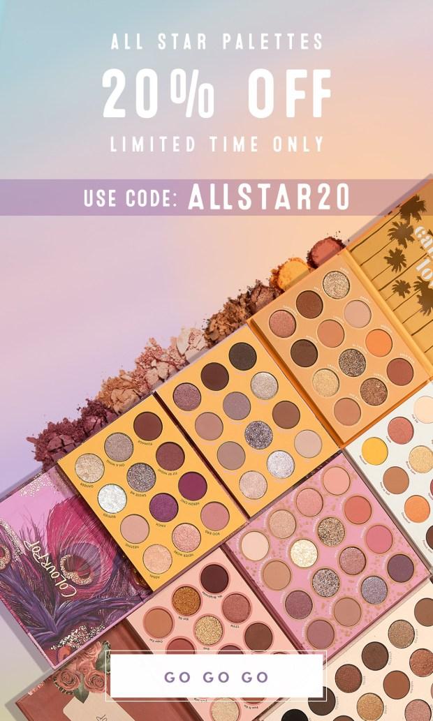 ColourPop Cosmetics Canada 20 Off All Star Palettes 2020 Canadian Deals Sale Promo Code - Glossense