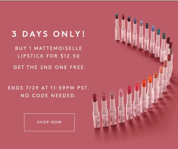 Fenty Beauty Canada Get 2 Mattemoiselle Plush Lipsticks for ONLY 12.50 National Lipstick Day 2020 Canadian Deals Sale - Glossense