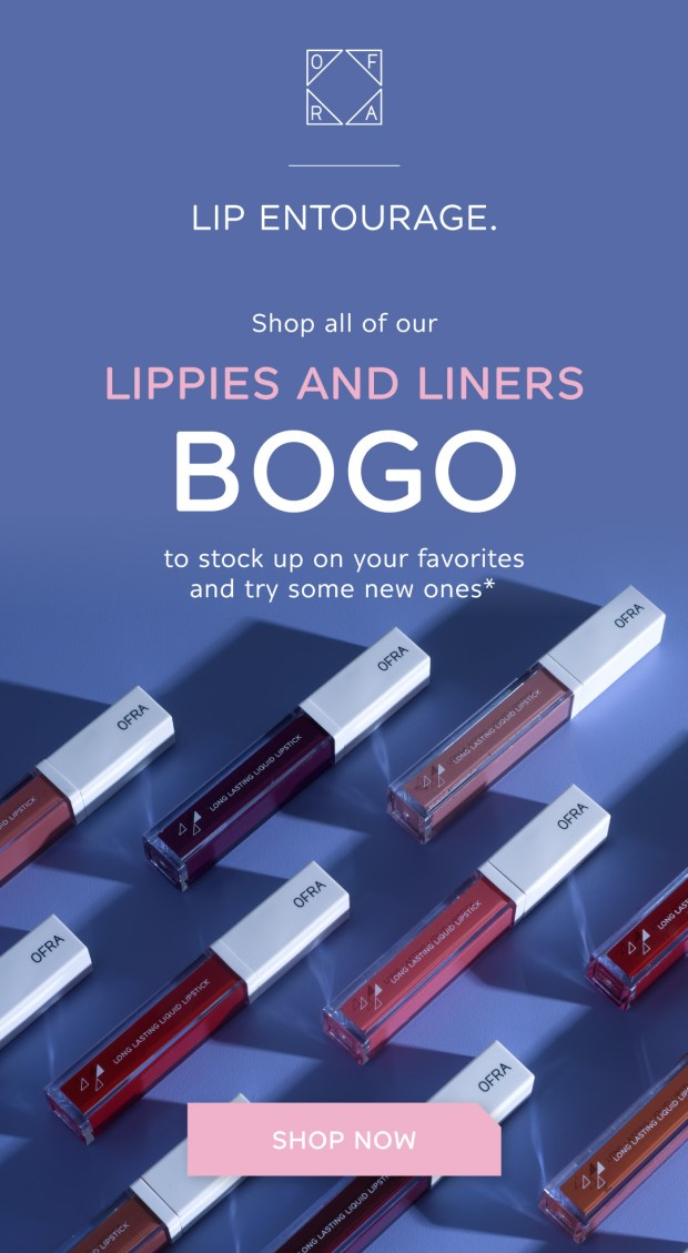 Ofra Cosmetics Canada National Lipstick Day BOGO Sale Buy One Lippie or Liner Get One Free 2020 Canadian Deals - Glossense