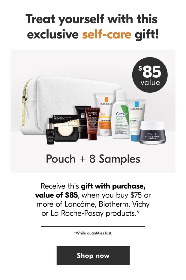 Shoppers Drug Mart Free L'Oreal Summer Event 9-pc Gift Set with Purchase of Lancome Biotherm La Roche Posay or Vichy Canadian GWP Offer 2 - Glossense